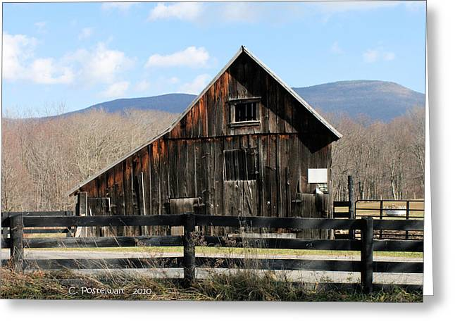 West Virginia Barn Greeting Card