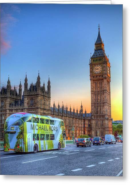 Westminster Bridge Early Evening Greeting Card by David Pyatt