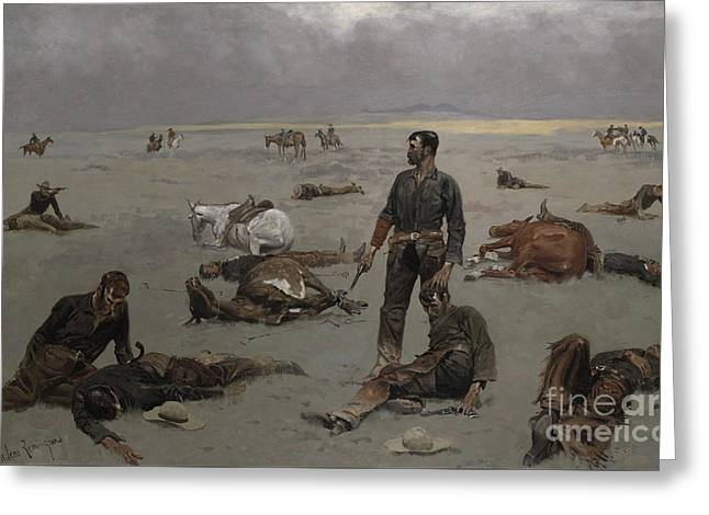 What An Unbranded Cow Has Cost Greeting Card by Frederic Remington