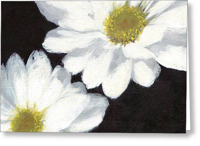 White Daisies Greeting Card by Marsha Young