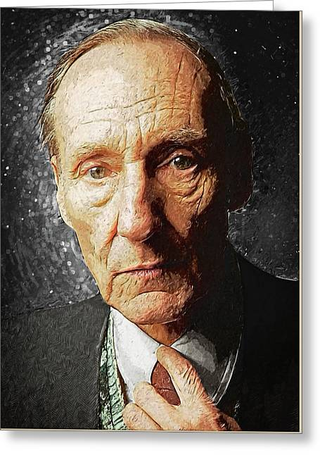 William S. Burroughs Greeting Card by Taylan Apukovska