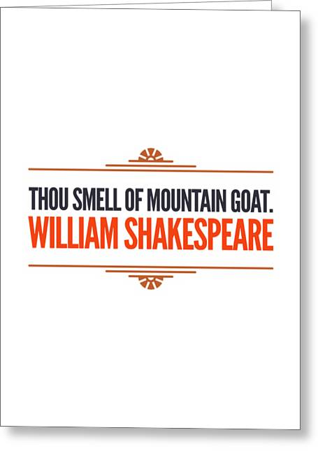 Insult greeting cards page 2 of 6 fine art america william shakespeare insults and profanities greeting card m4hsunfo