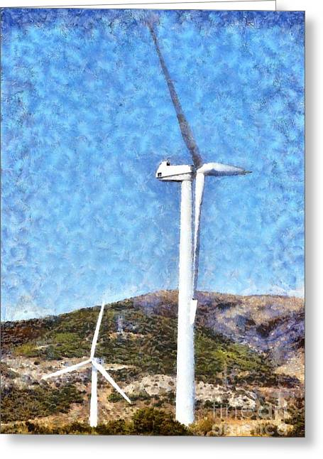 Wind Turbines Greeting Card