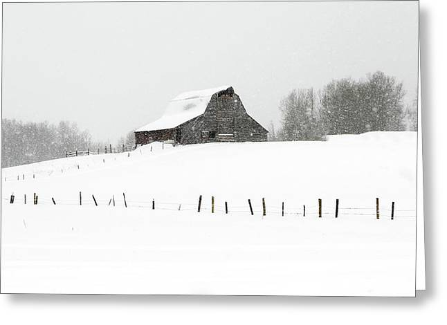 Greeting Card featuring the photograph Winter Barn by Ronnie and Frances Howard