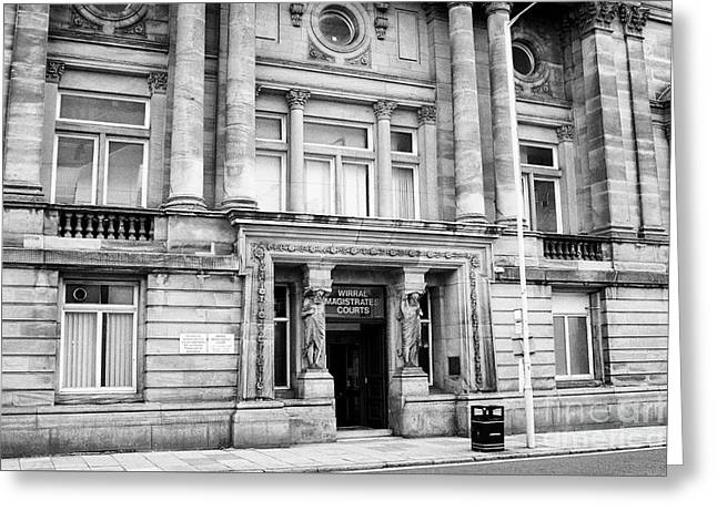wirral magistrates court birkenhead Merseyside UK Greeting Card by Joe Fox