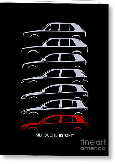 Wolfsburger Hatch Five Silhouettehistory Greeting Card by Gabor Vida
