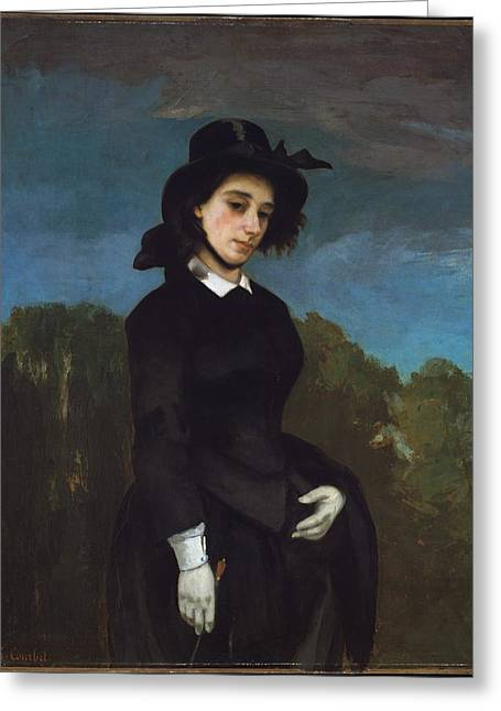 Woman In A Riding Habit L'amazone Greeting Card by Gustave Courbet