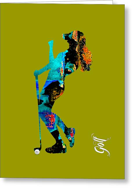 Womens Golf Collection Greeting Card