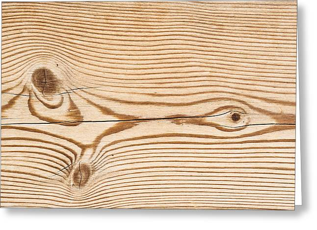 Wood Texture Greeting Card by Tom Gowanlock