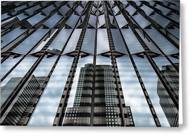 World Trade Center Nyc Greeting Card by Robert Ullmann