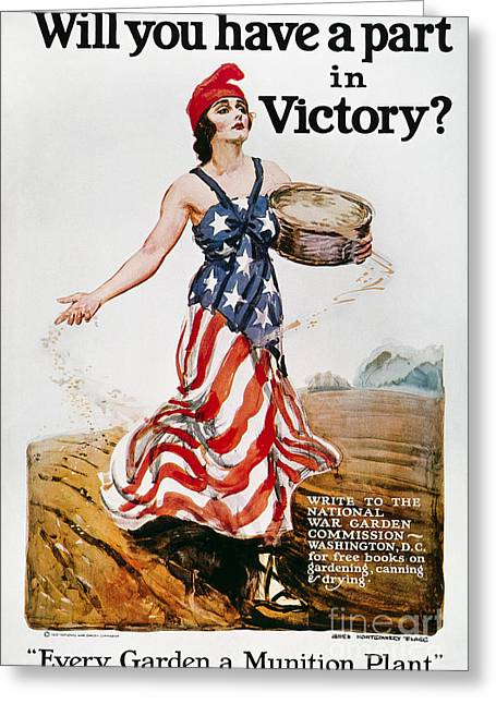 World War I: U.s. Poster Greeting Card by Granger