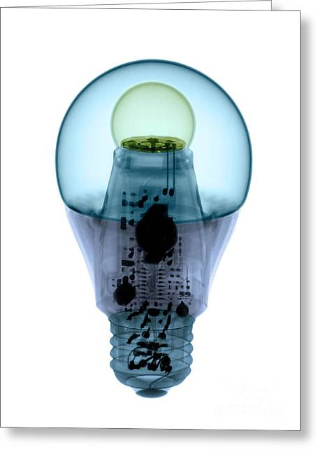 X-ray Of An Energy Efficient Light Greeting Card by Ted Kinsman