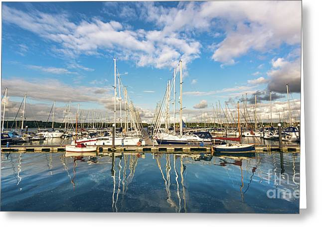 Yachts Greeting Card by Svetlana Sewell