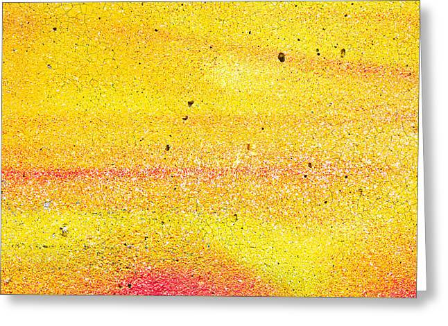 Yellow Paint Greeting Card by Tom Gowanlock