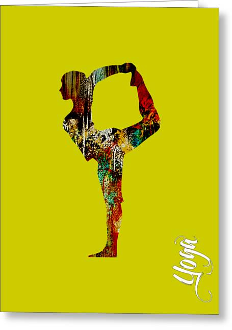 Yoga Collection Greeting Card by Marvin Blaine