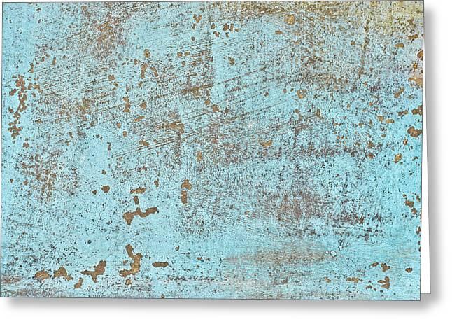 Blue Metal Greeting Card