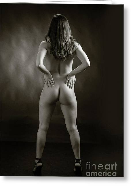 Claudia Nude Fine Art Print In Sensual Sexy Black And White Or S Greeting Card