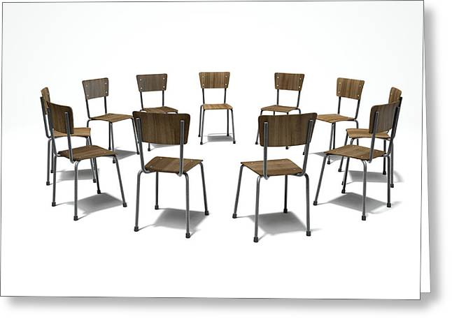 Group Therapy Chairs Greeting Card