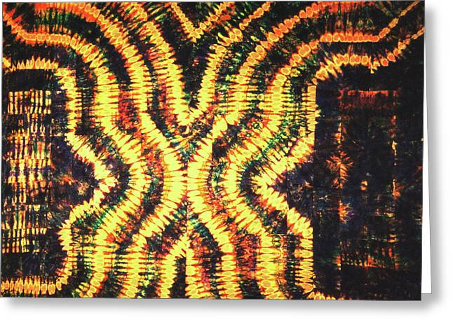Large Tapestries - Textiles Greeting Cards - 20 Greeting Card by Mildred Thibodeaux