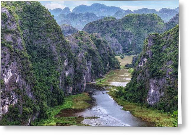Ninh Binh - Vietnam Greeting Card by Joana Kruse