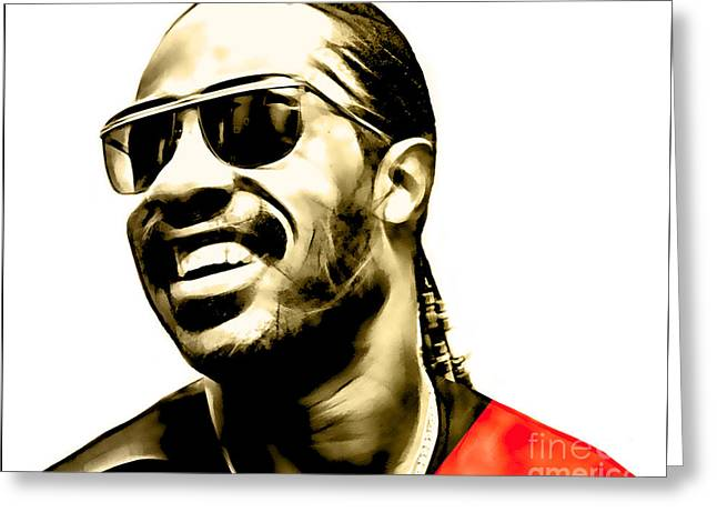 Stevie Wonder Collection Greeting Card