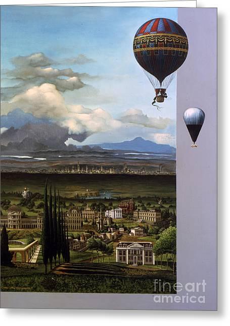 200 Years Of Ballooning Greeting Card by Jane Whiting Chrzanoska