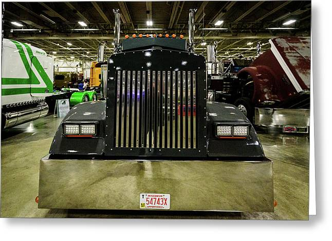 Greeting Card featuring the photograph 2000 Kenworth W900 by Randy Scherkenbach