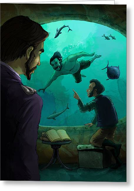 20000 Leagues Under The Sea Greeting Card