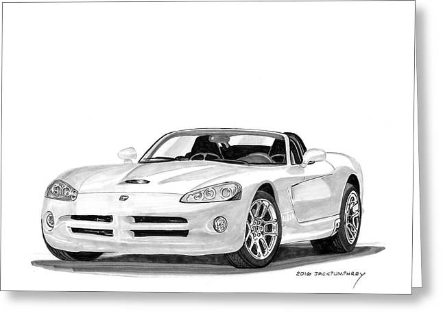 2005 Dodge Srt 10 Roadster Greeting Card