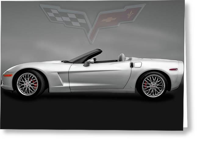 2006 Chevrolet C6 Corvette Convertible  -  2006c6vettelogogry184075 Greeting Card