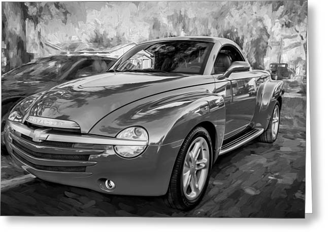 2006 Ssr Chevrolet Truck Painted Bw Greeting Card by Rich Franco