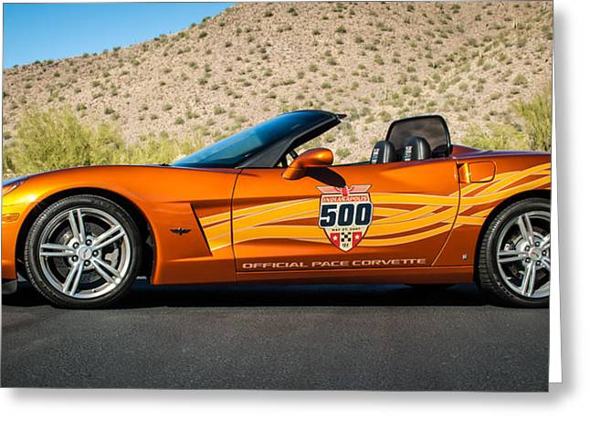 2007 Chevrolet Corvette Indy Pace Car -0003c2 Greeting Card
