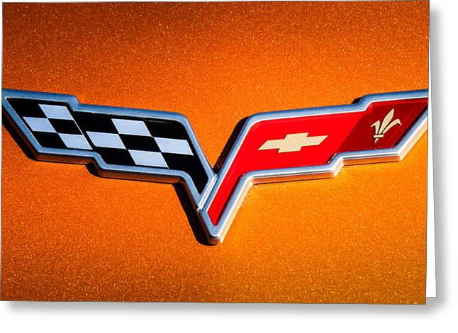 2007 Chevrolet Corvette Indy Pace Car -0301c Greeting Card