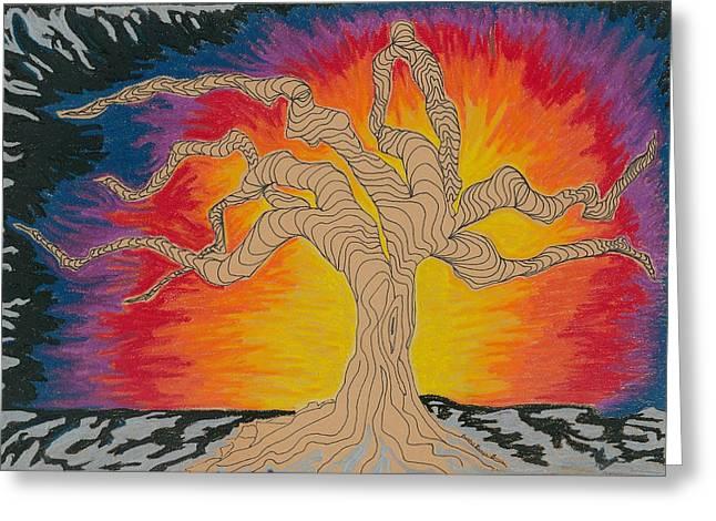 Fantasy Tree Pastels Greeting Cards - 2009 Greeting Card by Rachel Zuniga