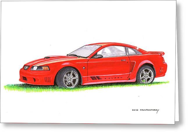 201 Saleen Mustang  Greeting Card by Jack Pumphrey