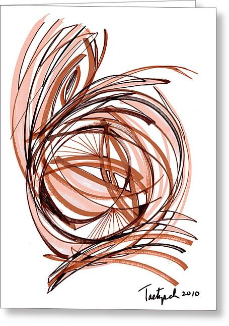 2010 Abstract Drawing Six Greeting Card