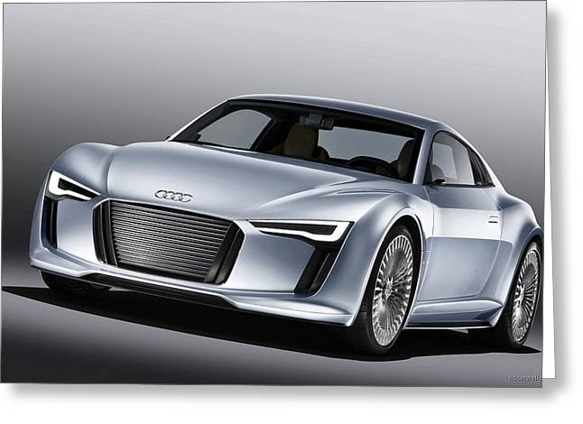 2010 Audi E Tron 4 Wide Greeting Card