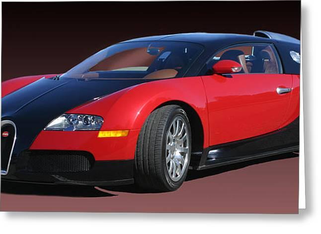 2010 Bugatti Veyron E. B. Sixteen Greeting Card