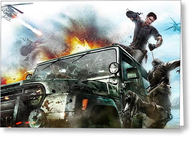 2010 Just Cause 2 Game Greeting Card by F S