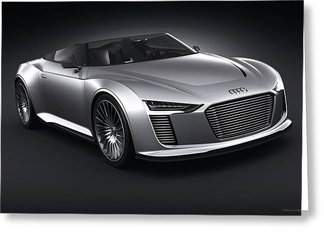 2011 Audi E Tron Spyder Wide Greeting Card