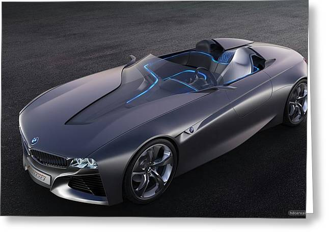 2011 Bmw Vision Connected Drive Concept 4 Wide Greeting Card by F S
