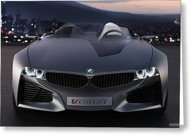 2011 Bmw Vision Connected Drive Concept 5 Wide Greeting Card by F S