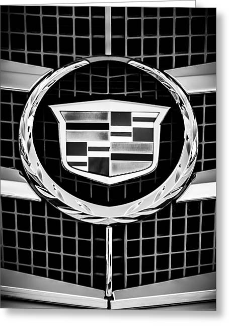 2011 Cadillac Cts Performance Collection -0584bw46 Greeting Card by Jill Reger