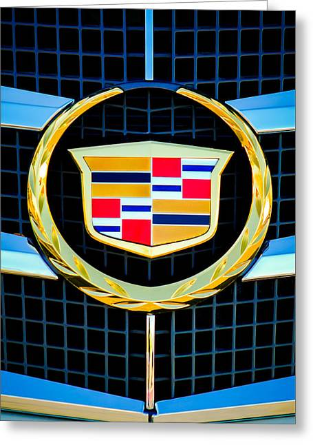 2011 Cadillac Cts Performance Collection Emblem -0584c46 Greeting Card by Jill Reger