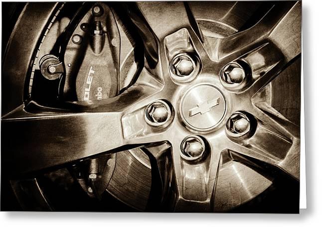 2011 Chevrolet Camaro Indianapolis 500 Pace Car Wheel -0317s Greeting Card