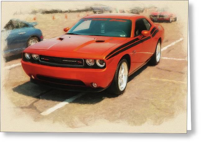 2011 Dodge Challenger R/t Stp Greeting Card by Rich Fiddelke