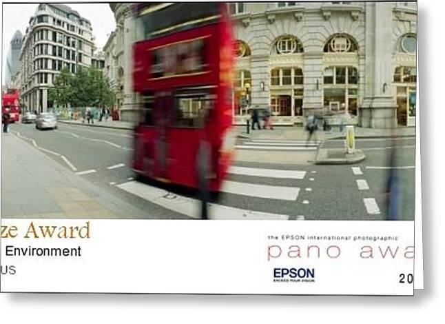 2011 Epson Pano Awards  - Kensington Bus  Bronze Medal Greeting Card by Jan W Faul