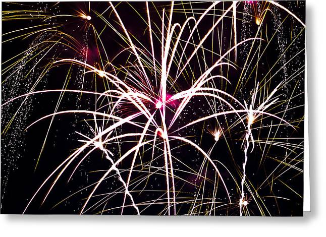 2011 Fireworks Greeting Card by Robert  Torkomian