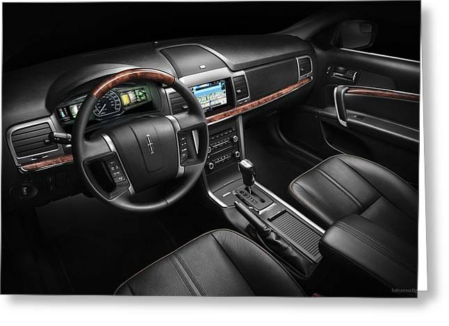 2011 Lincoln Mkz Hybrid Interior Wide Greeting Card
