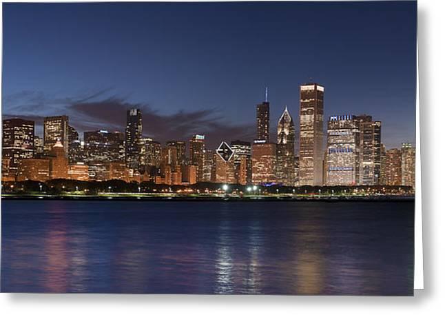 2012 Chicago Skyline Greeting Card by Donald Schwartz